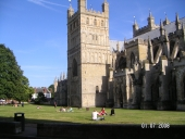 View of Exeter Cathedral from Cathedral Yard